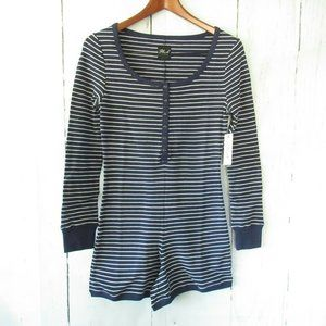 Plush Apparel Romper Pajamas Stripe Lounge Thermal